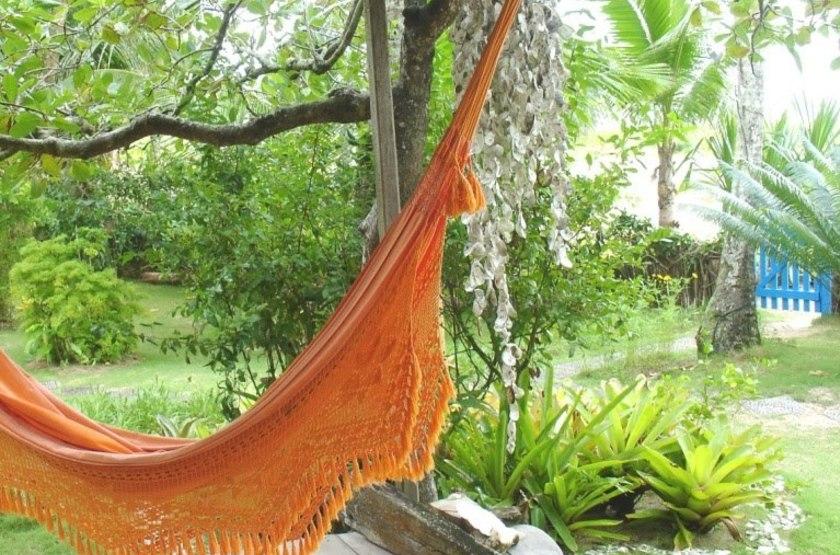 Vila Sereia, Ilha de Boipeba, Brésil, terrasse bungalow