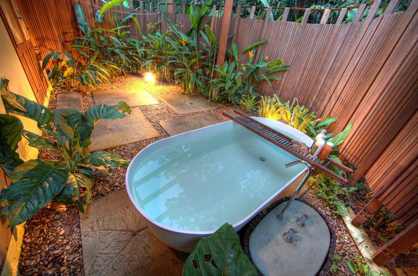 Cristalino Jungle Lodge, Amazonie, Brésil, salle de bains