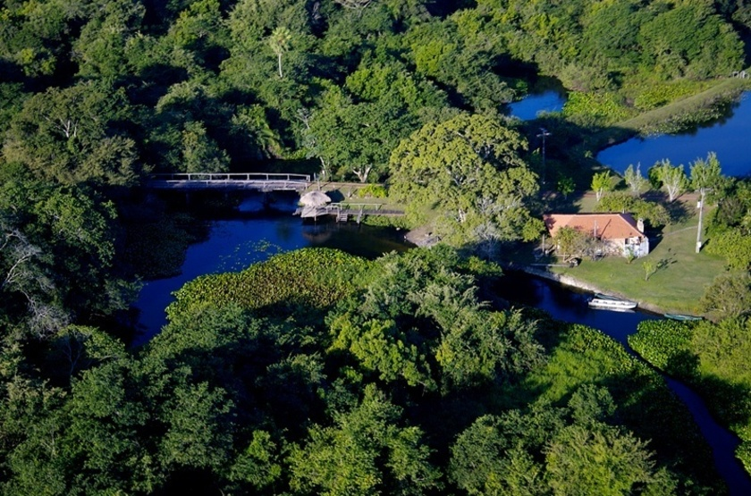 Refugio da Ilha, Pantanal, Brésil, vue aérienne