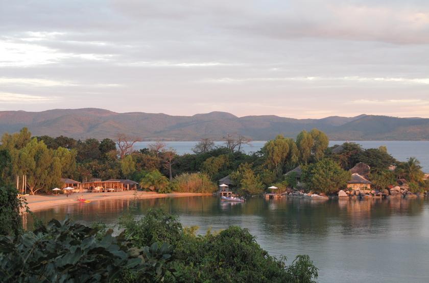 Kaya Mawa, Lac Malawi, Malawi, vue aérienne