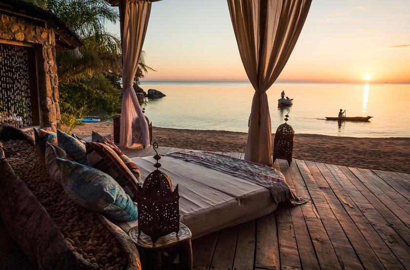 Kaya Mawa, Lac Malawi, Malawi, chambre