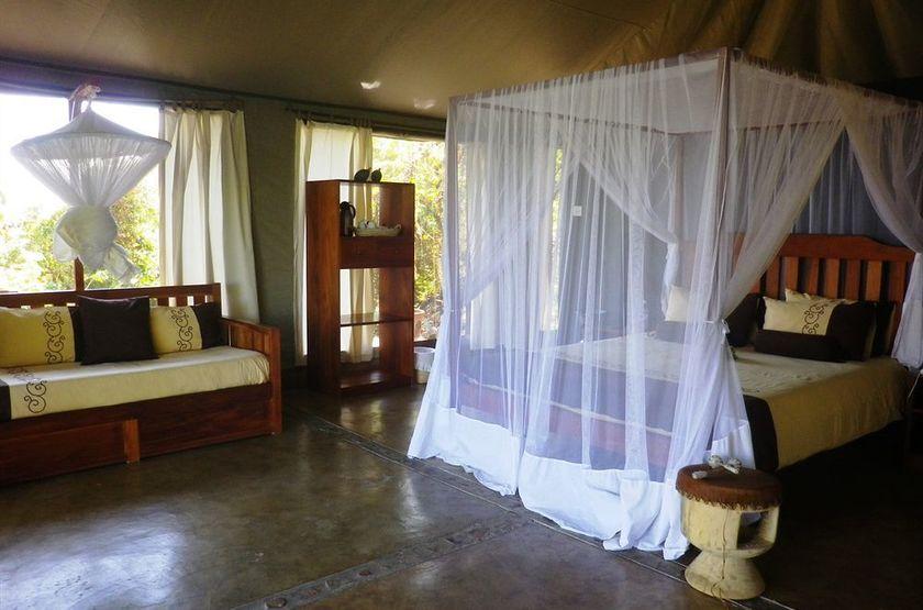 Blue Zebra Island Lodge, ile Nankoma, Malawi, chambre