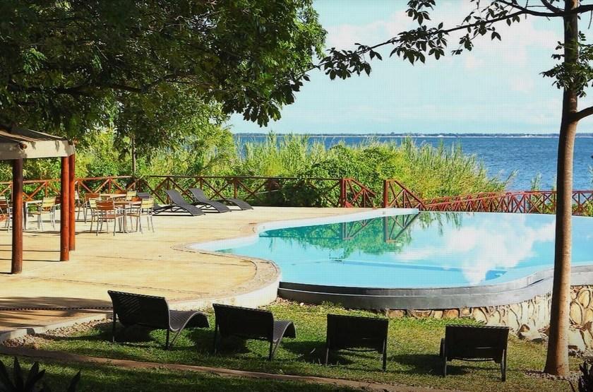 Blue Zebra Island Lodge, ile Nankoma, Malawi, piscine