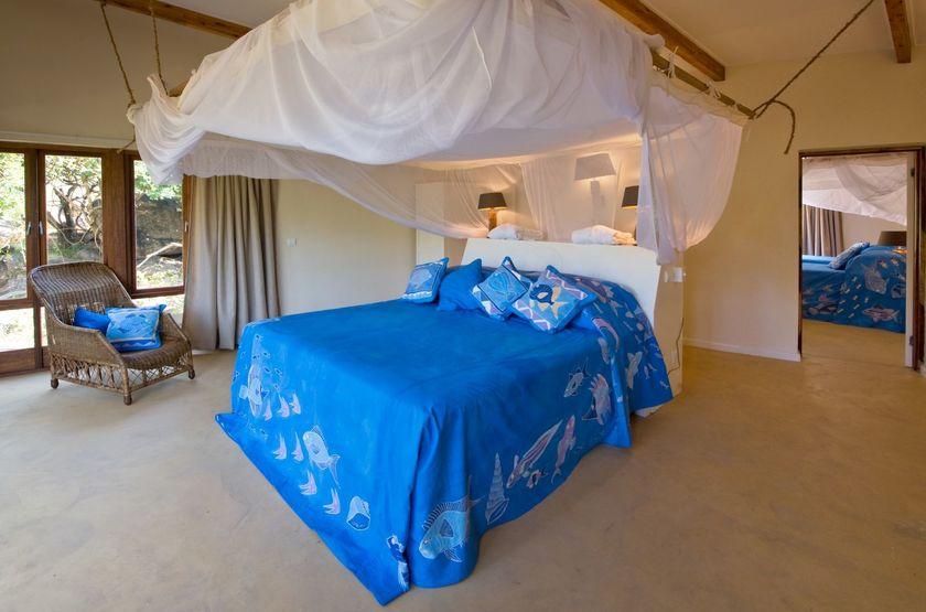 Pumulani Lodge, lac Malawi, Malawi, chambre