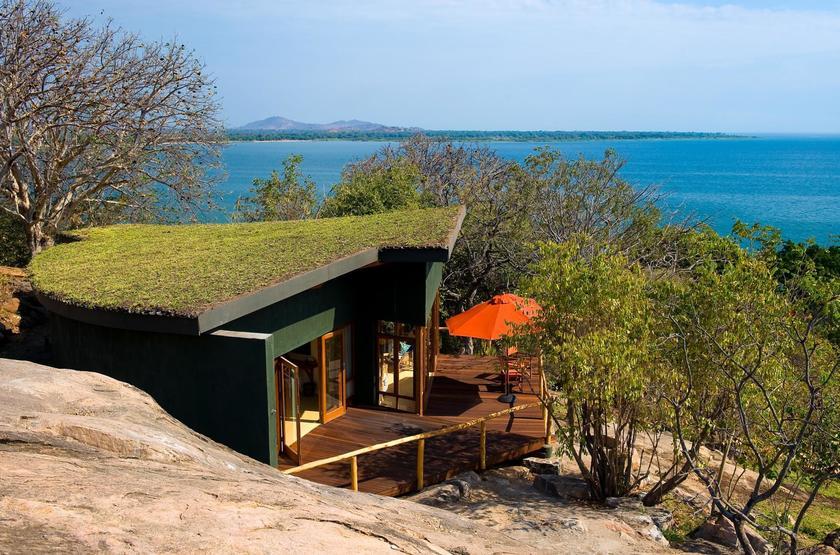 Pumulani Lodge, lac Malawi, Malawi, chalet