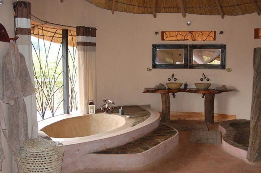 Tongole Wilderness Lodge, Reserve Nkhotakota, Malawi, salle de bain
