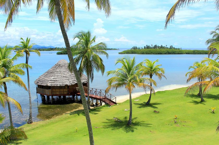 Yandup Island Lodge, Panama, terrasse plage