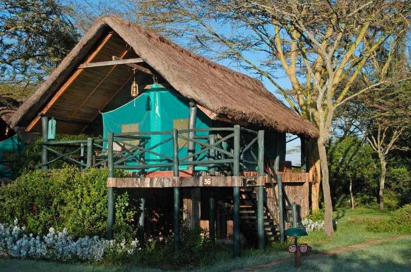 Sweetwaters Serena Tented Camp, Ol Pejeta, Kenya, tente sur pilotis