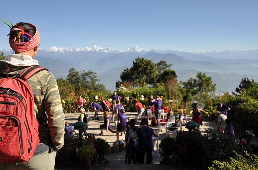 Népal - Fort Resort Nagarkot - Terrasse