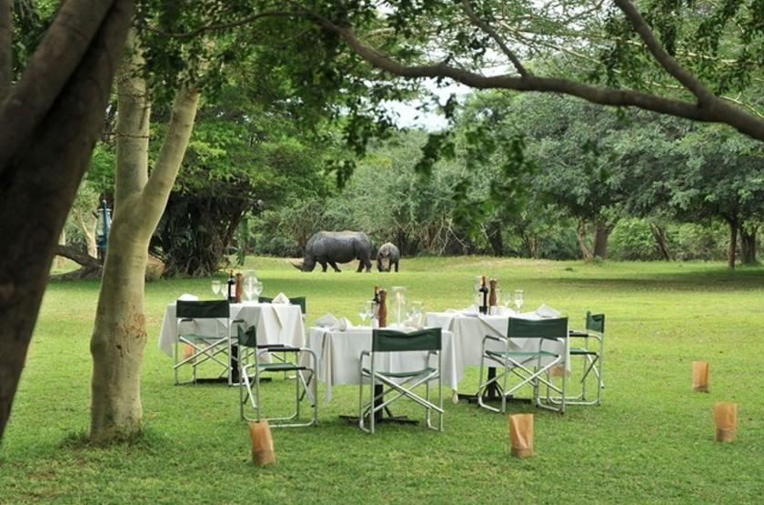Falaza Game Lodge, Afrique du Sud, jardins