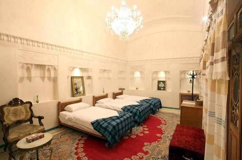 Mahinestan Hotel, Kashan, Iran, chambre