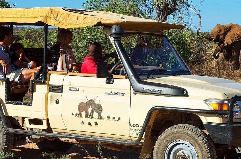 Elephant Watch Camp, Samburu, Kenya, safari en 4x4