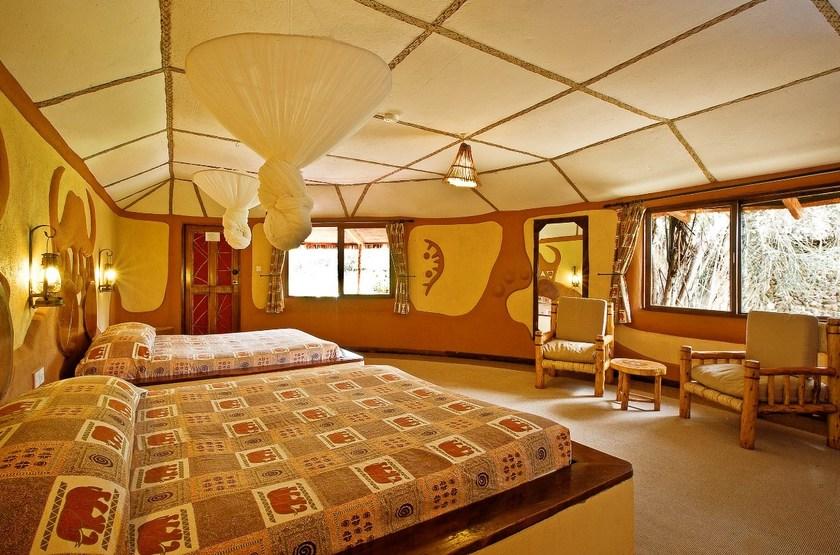Amboseli Sopa Lodge, Amboseli, Kenya, chambre