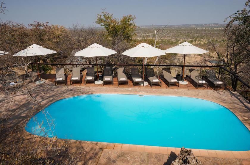 Ongava Lodge, Territoire d'Ongava, Namibie, piscine
