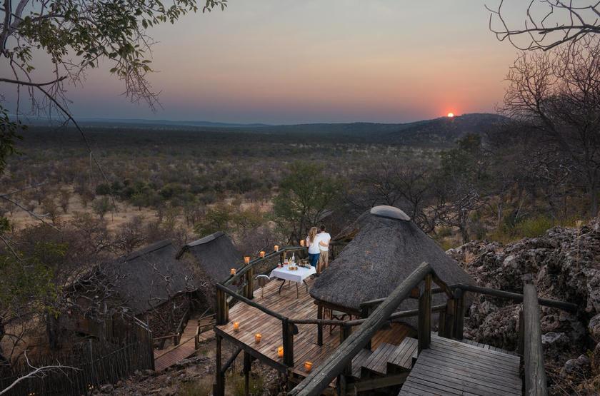 Ongava Lodge, Territoire d'Ongava, Namibie, vue d'ensemble