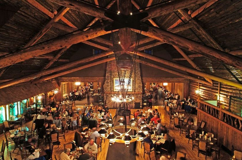 Old Faithful Snow Lodge, Yellowstone Park, restaurant