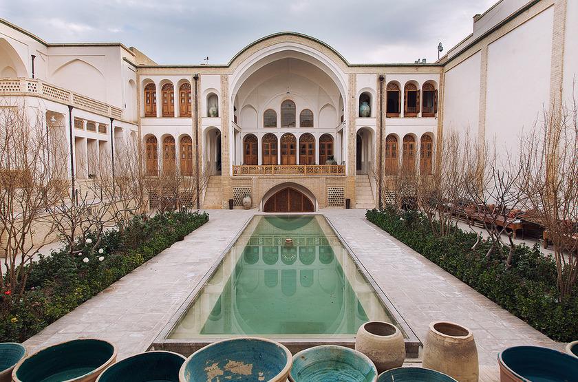 Manouchehri House, Kashan, Iran, cours intérieure