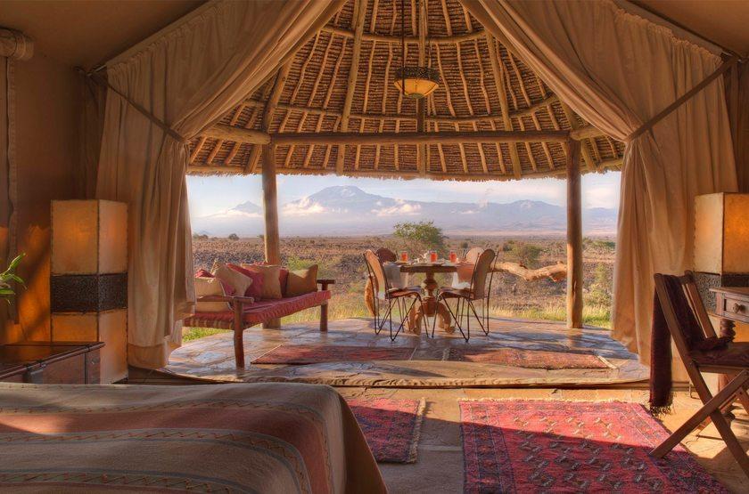Elewana Tortilis Camp, Amboseli, Kenya, terrasse tente