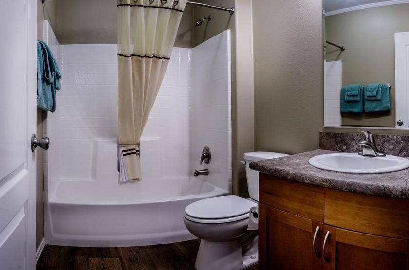 Goulding's Lodge, Monument Valley, Etats Unis, salle de bains