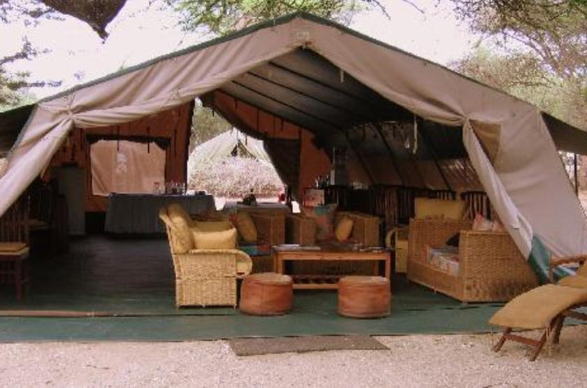 Mara Porini Camp, Ol Kinyu, Masai Mara, Kenya, tente mess