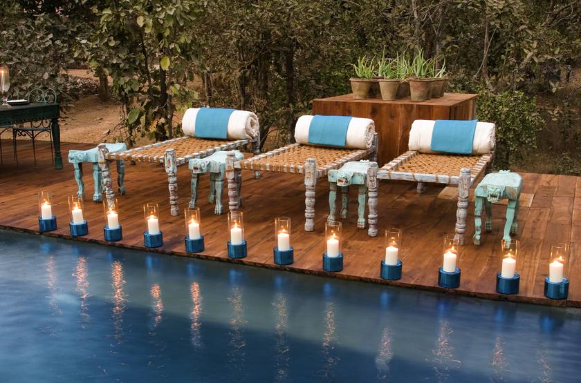 Taj Baghvan Wildlife Resort, Parc de Pench, Inde, piscine