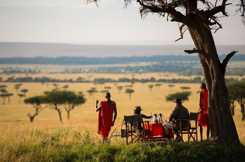 Kilima Camp, Masai Mara, Kenya, déjeuner en brousse