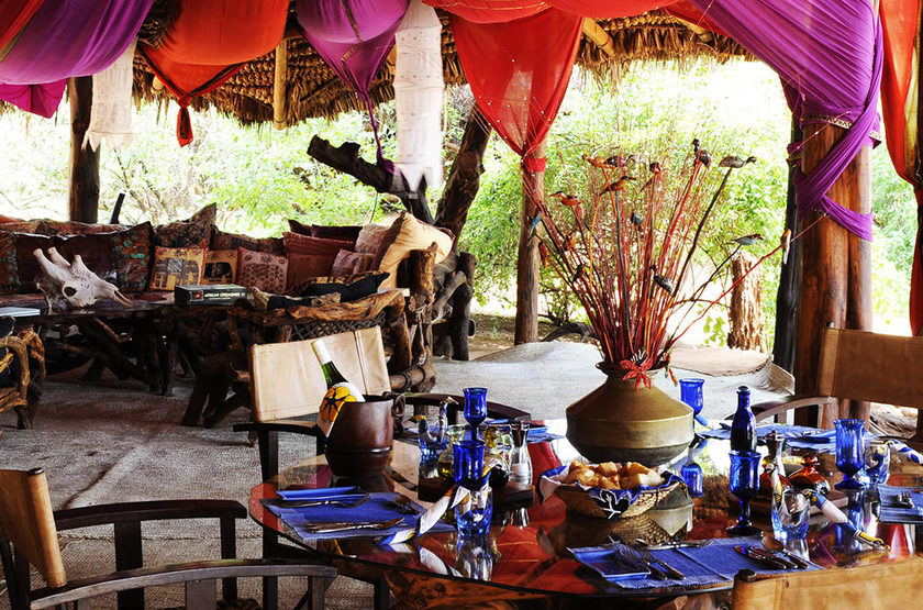 Elephant Watch Camp, Samburu, Kenya, restaurant