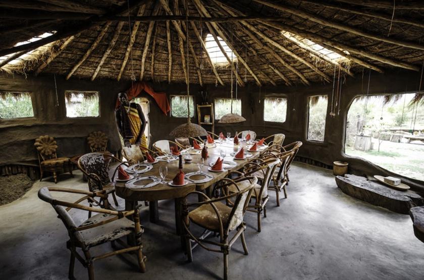 Tanzanie - Maasai Lodge - Salle à manger