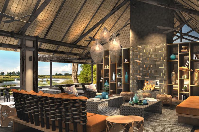 Botswana - King's Pool - Salon extérieur