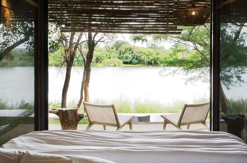 Zimbabwe - Victoria Falls - Matetsi River Lodge - vue de la chambre