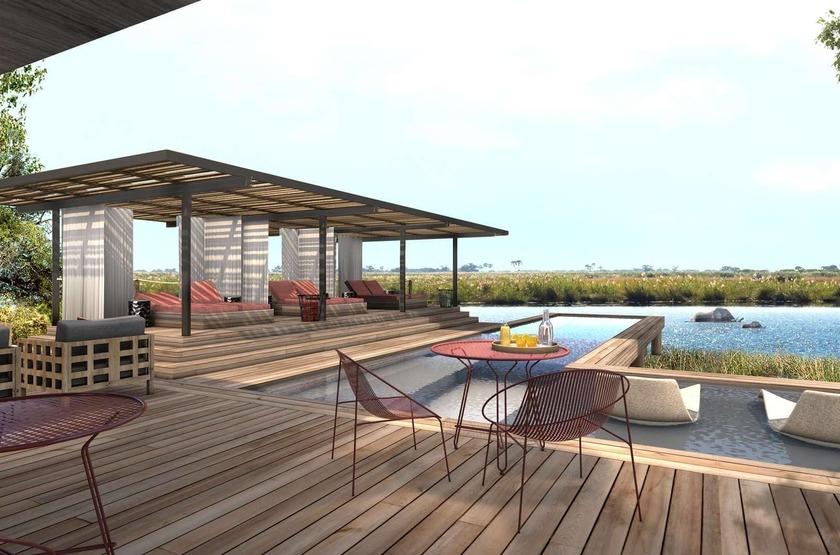 Little Duma Tau, Botswana, terrasse