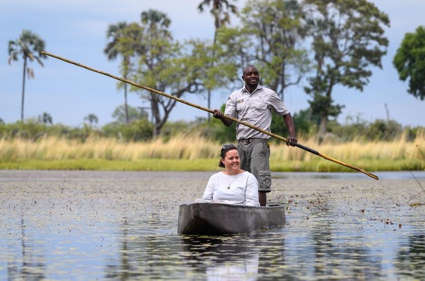 Qorokwe, Delta de l'Okavongo, Botswana, safari, mokoro
