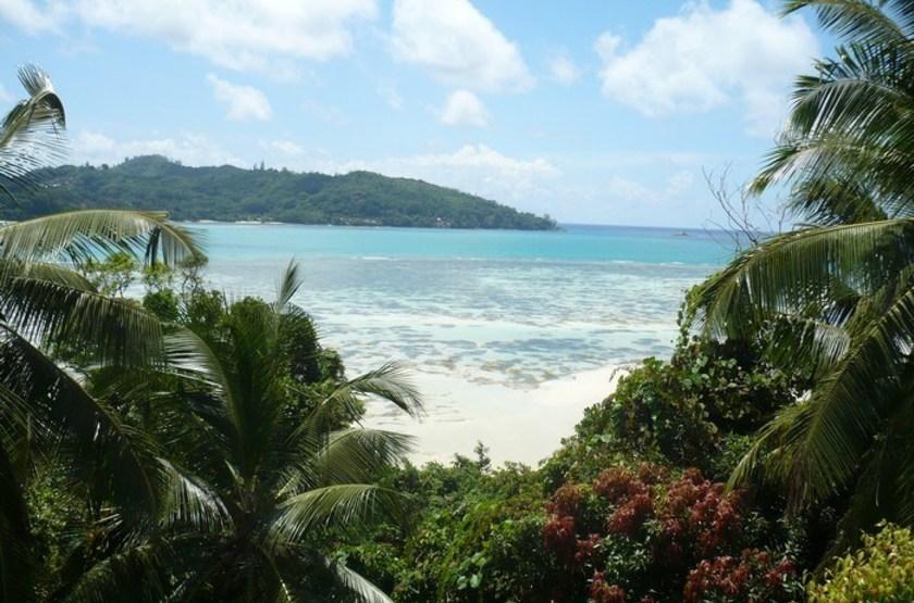 Le Jardin des Palmes, Mahé, Seychelles, vue mer