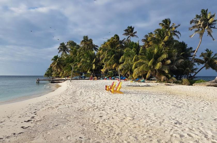 Ranguana Caye Cabanas, Belize, île de Placencia, plage