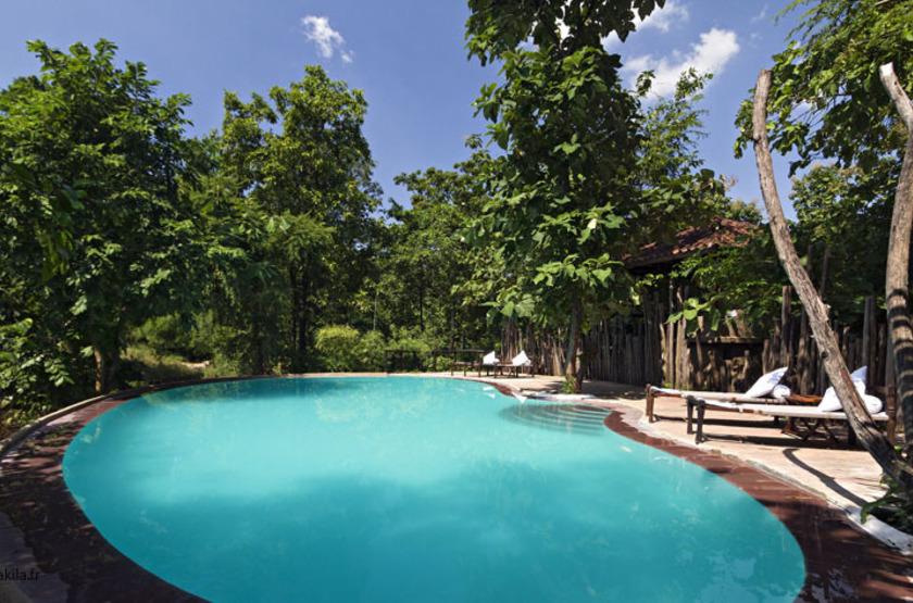 Reni Pani Jungle Lodge, Satpura Reserve, Inde, piscine