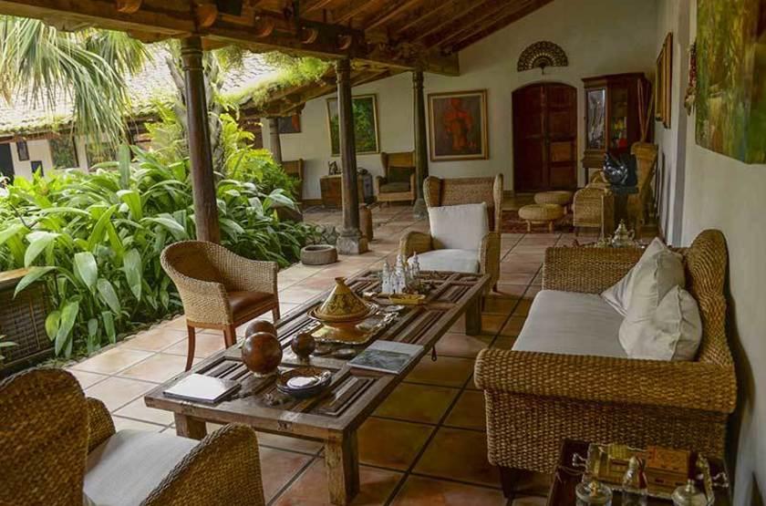 Los Almendros de San Lorenzo, Suchitoto, Salvador, salon extérieur