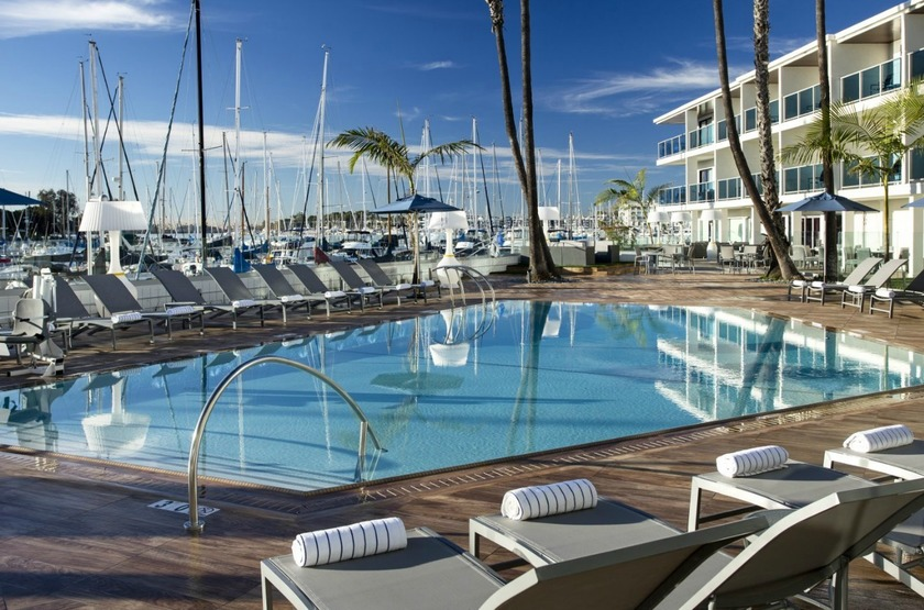 Marina Del Rey, Los Angeles, Etats Unis, piscine