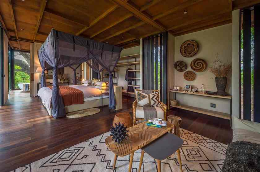 Qorokwe, Delta de l'Okavongo, Botswana, tente, intérieur