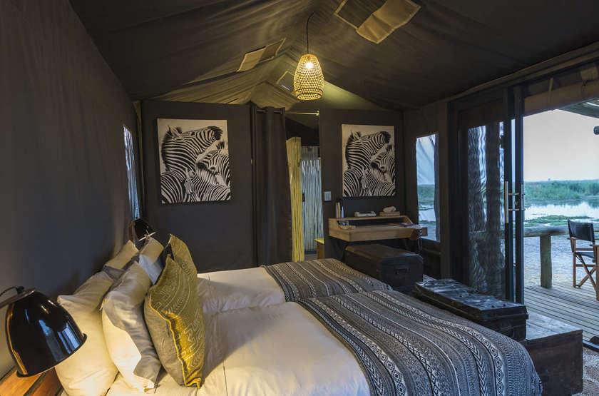 Linyanti Tented Camp, Botswana, intérieur tente