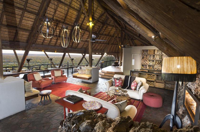 Ongava Lodge, Territoire d'Ongava, Namibie, salon