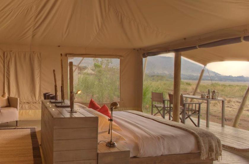&Beyond Kichwa Tembo, Masai Mara, Kenya, tente supérieure