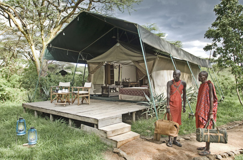 Mara Porini Camp, Ol Kinyu, Masai Mara, Kenya, tente