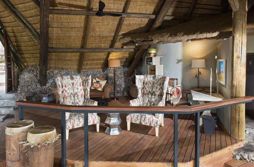 Ongava Lodge, Territoire d'Ongava, Namibie, bibliothèque