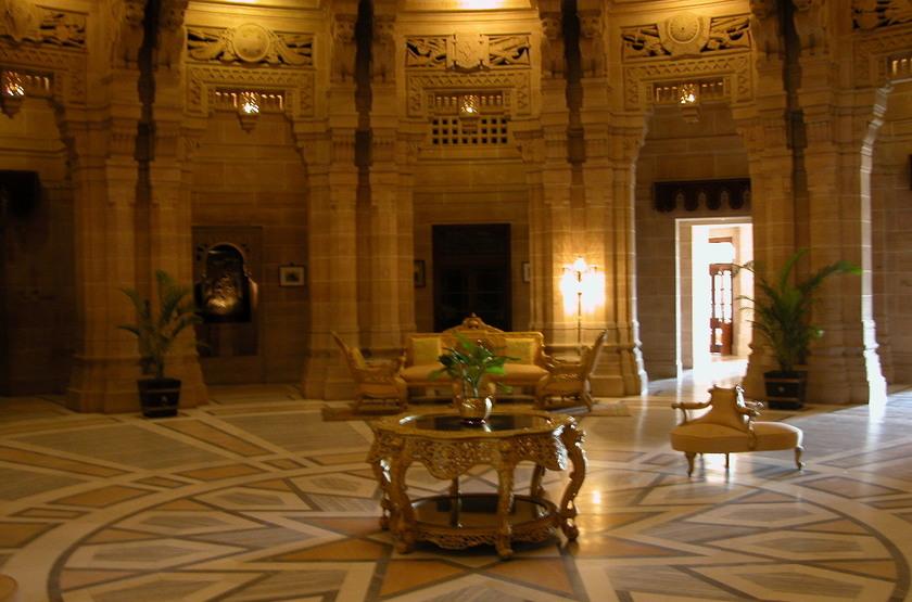 Taj Umaid Bhawan Palace, Jodhpur, Inde, lobby