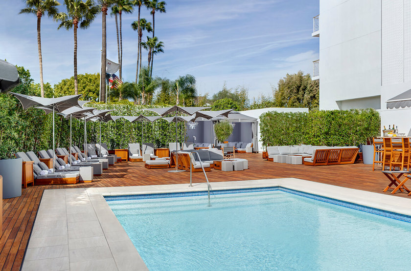Mr C Beverly Hills, Los Angeles, Etats Unis, piscine
