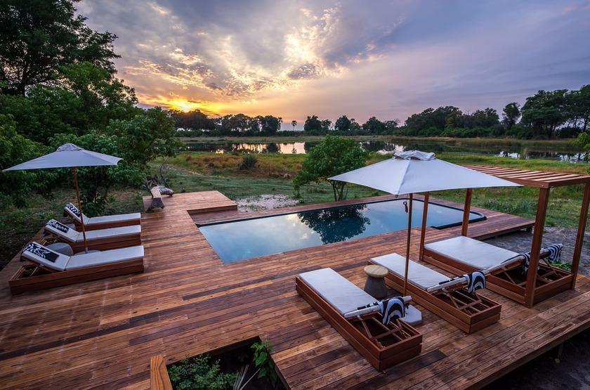 Qorokwe, Delta de l'Okavongo, Botswana, piscine