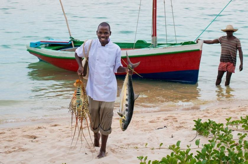 & Beyong Benguerra Lodge, Mozambique, pêcheurs