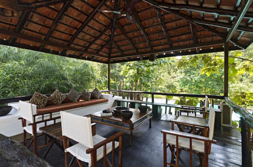 Reni Pani Jungle Lodge, Satpura Reserve, Inde, terrasse