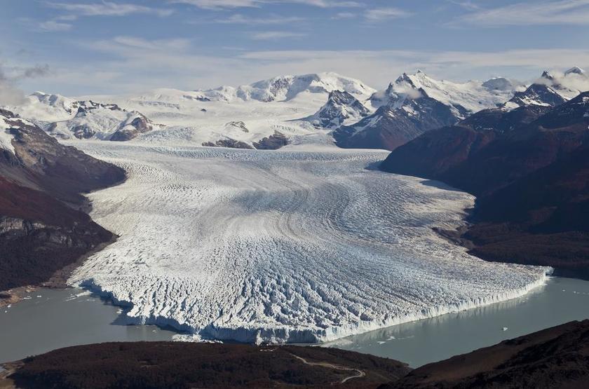 Argentine - Eolo - Vue rivière de glace