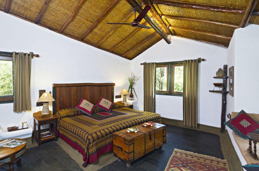 Reni Pani Jungle Lodge, Satpura Reserve, Inde, chambre